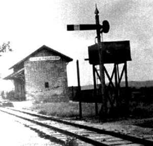 A primeira estação ferroviária do Brasil