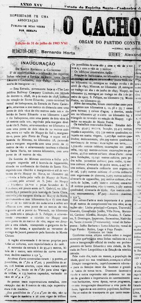 EF De Santo Eduardo a Cachoeiro (1903)