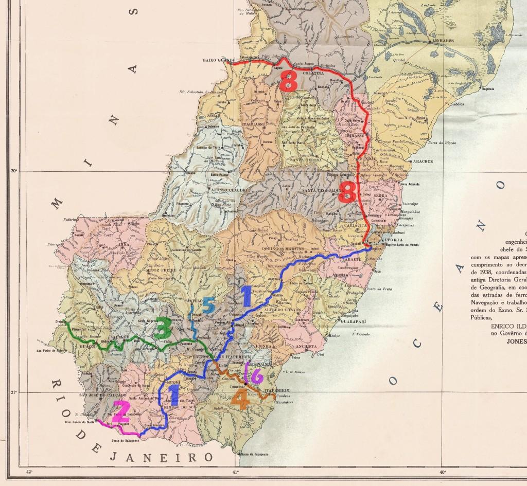 Mapa original Mapoteca IHGB (1945)