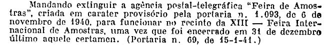 Feira de Amostras 1941 RJ