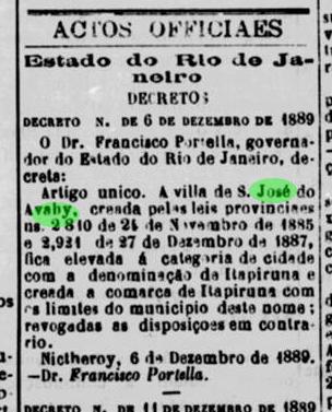 Itaperuna, historia